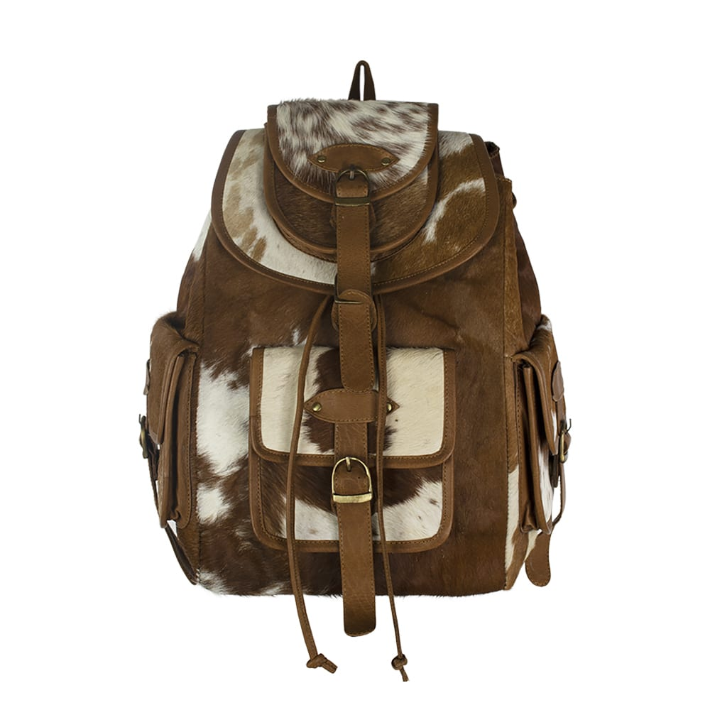 Backpack Cow  Brown    30x13x39cm Mars & More